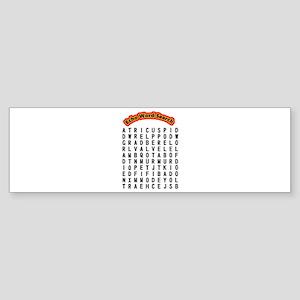 Echocardiogram Word Search (bumper) Bumper Sticker