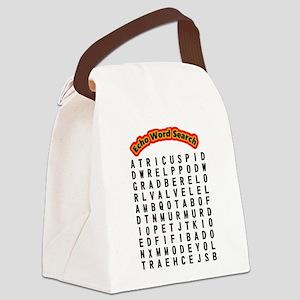 Echocardiogram Word Search Canvas Lunch Bag