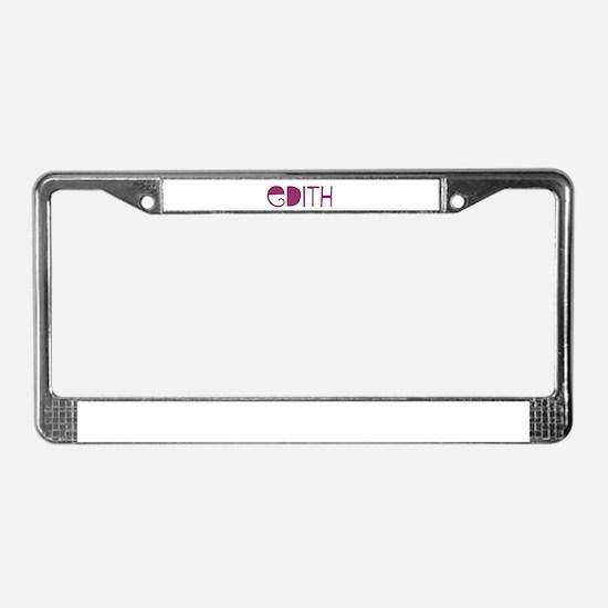 Edith License Plate Frame