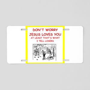 bocce joke Aluminum License Plate
