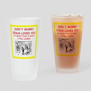 bocce joke Drinking Glass