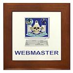 Masonic Webmaster. Spreading the word. Framed Tile