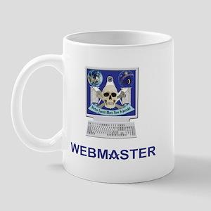 Masonic Webmaster. Spreading the word. Mug