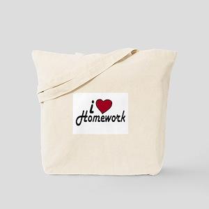 I Love Homework (Back to School) Tote Bag