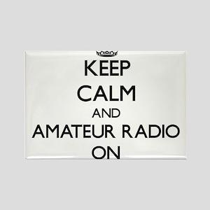 Keep calm and Amateur Radio ON Magnets