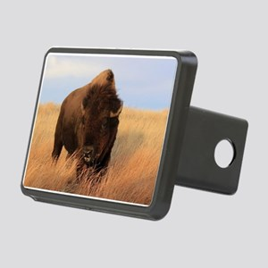 Bison on the plains Rectangular Hitch Cover