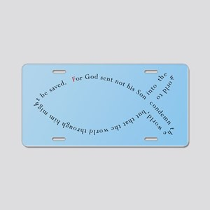 John 3:17 Ichthys Aluminum License Plate