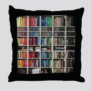 colorful library 2 Throw Pillow