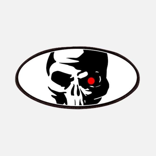 Cyborg Terminator Cyber Robot Tech Skull I Patches