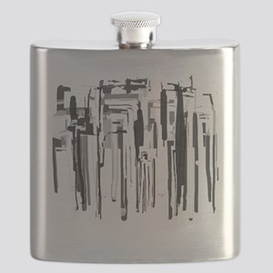 Abstract City Flask