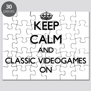 Keep calm and Classic Videogames ON Puzzle