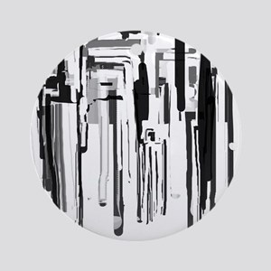 Abstract City Ornament (Round)