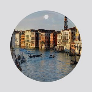 Venice Italy canal Ornament (Round)