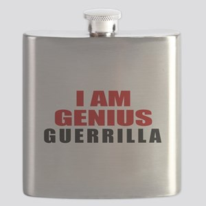 I Am Genius Guerrilla Flask