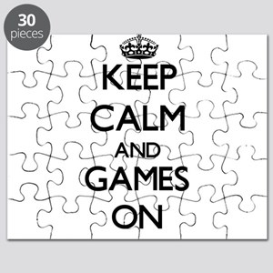 Keep calm and Games ON Puzzle