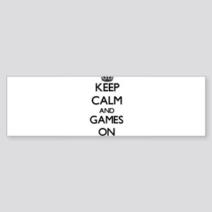 Keep calm and Games ON Bumper Sticker