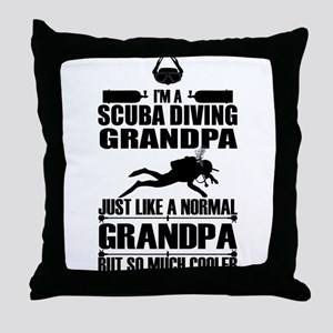 ScubaGrandpaK Throw Pillow