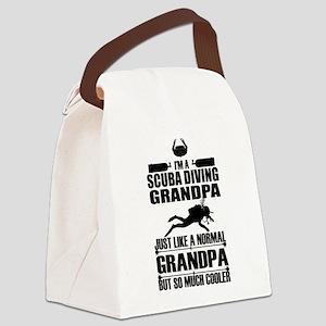 ScubaGrandpaK Canvas Lunch Bag