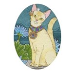 Beloved of Bastet Oval Ornament