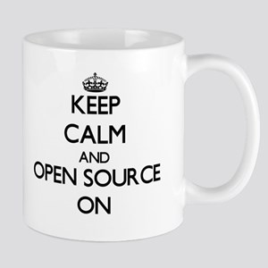 Keep calm and Open Source ON Mugs