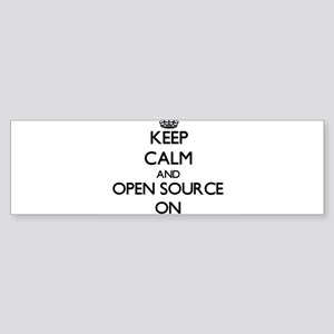 Keep calm and Open Source ON Bumper Sticker