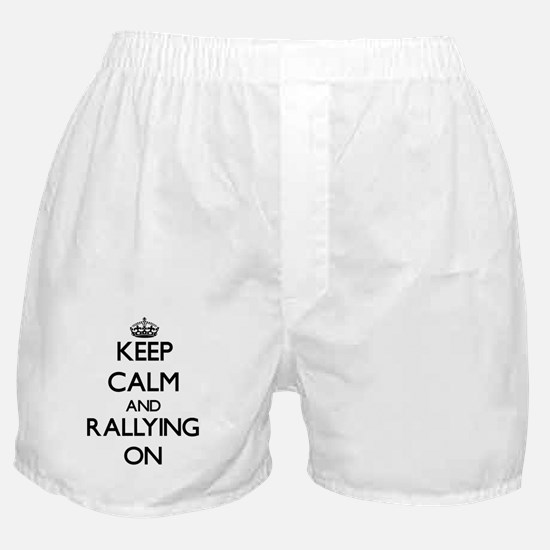 Keep calm and Rallying ON Boxer Shorts