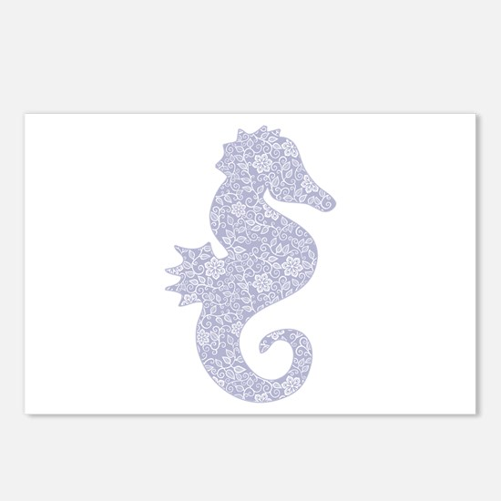 Applique Style Seahorse Postcards (Package of 8)