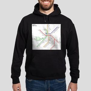 Boston Rapid Transit Map Subway Metr Hoodie (dark)