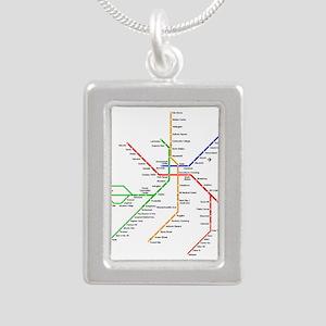 Boston Rapid Transit Map Subway Metro Necklaces