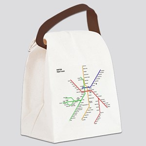 Boston Rapid Transit Map Subway M Canvas Lunch Bag