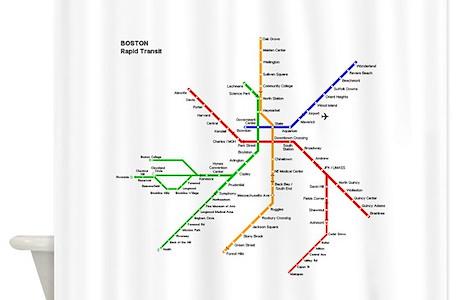 Washington Dc Metro Subway Map Shower Curtains   CafePress