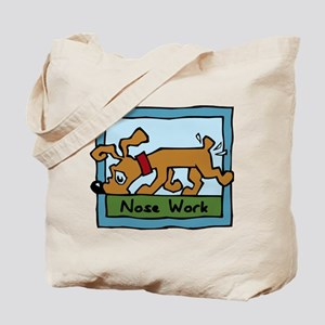 Nose Work Puppy Sniffing Tote Bag