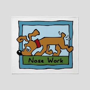 Nose Work Puppy Sniffing Throw Blanket