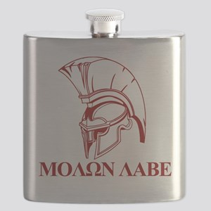 Spartan Greek Molon Labe Come and Take it Flask