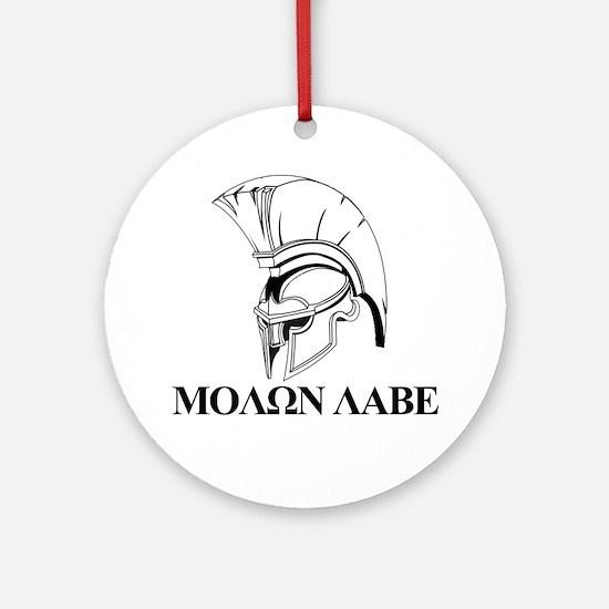 Spartan Greek Molon Labe Come and Take it Ornament