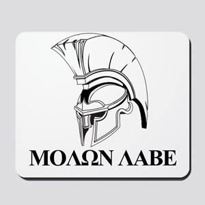 Spartan Greek Molon Labe Come and Take it Mousepad