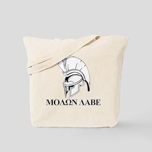 Spartan Greek Molon Labe Come and Take it Tote Bag