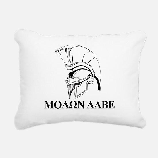 Spartan Greek Molon Labe Come and Take it Rectangu
