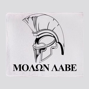 Spartan Greek Molon Labe Come and Take it Throw Bl