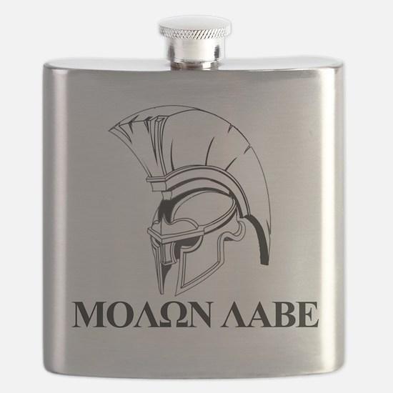 Spartan Greek Molon Labe Come and Take it Flask