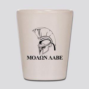 Spartan Greek Molon Labe Come and Take it Shot Gla