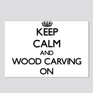 Keep calm and Wood Carvin Postcards (Package of 8)
