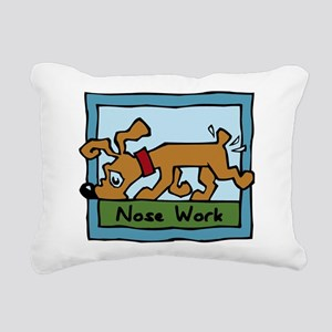 Nose Work Puppy Sniffing Rectangular Canvas Pillow