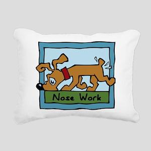 Nose Work Puppy Sniffing Rectangular Canvas Pillow