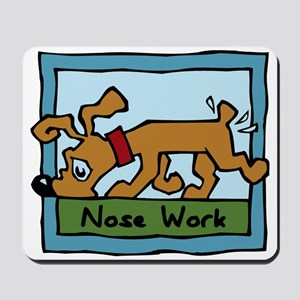 Nose Work Puppy Sniffing Mousepad