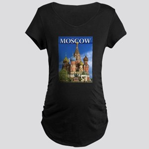 Moscow Kremlin Saint Basil's Cat Maternity T-Shirt