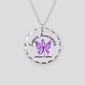 Lupus Butterfly 6.1 Necklace Circle Charm
