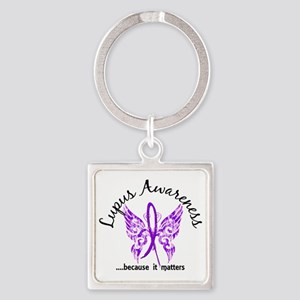 Lupus Butterfly 6.1 Square Keychain