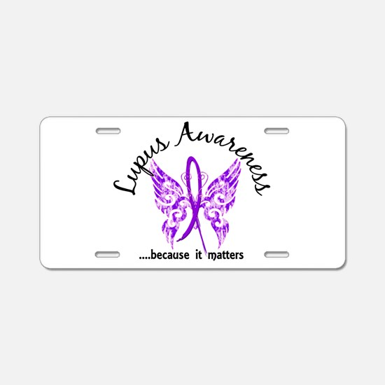 Lupus Butterfly 6.1 Aluminum License Plate