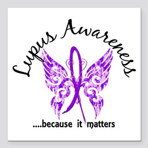 """Lupus Butterfly 6.1 Square Car Magnet 3"""" x 3"""""""